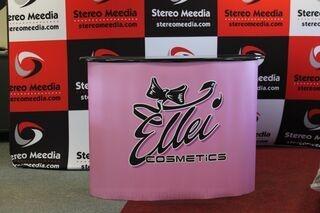 Iso mainospöytä Ellei Cosmetics
