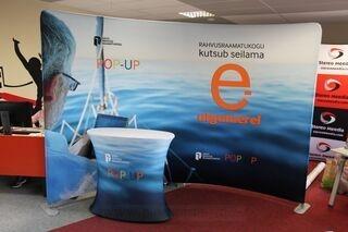 Promotional wall Eesti Rahvusraamatukogu