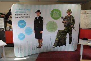 Promotional wall Naiskodukaitse