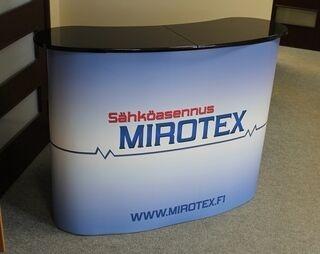 Mirotex esittelypöytä