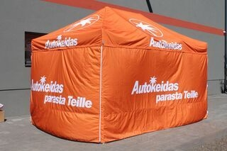 Printed pop up tent 3x4,5m Autokeidas