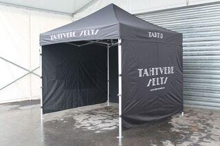 3x3m pop up tent with logo Tähtvere Selts