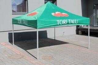3x3m logolla pop up teltta